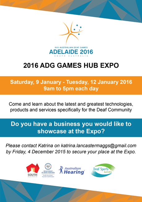 2016 Australia Deaf Games Hub Expo