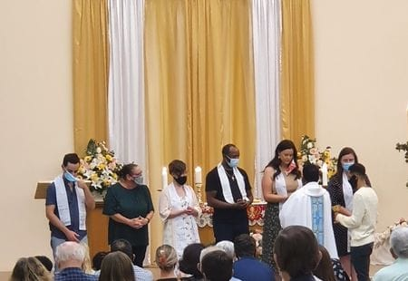 Catechumen's welcomed into the Catholic faith