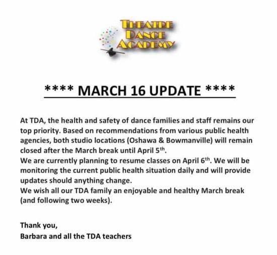 March 16 Update
