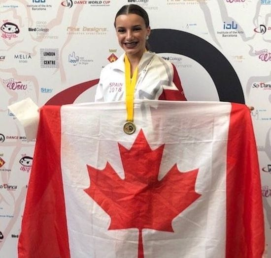 Congratulations kylie at winning the gold medal in Spain
