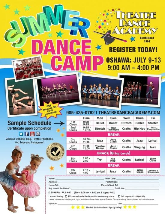 Summer dance camp try all types of dance in one week
