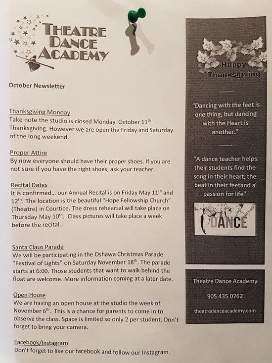 TDA October newsletter