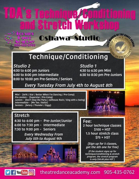 TDA Stretch Summer Dance Classes
