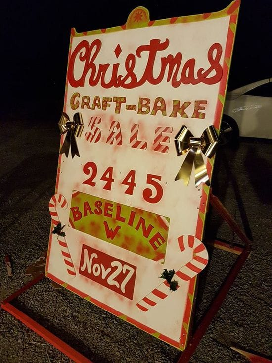 Christmas Craft & bake Sale opens at 10:00 - 3:00 Nov 27 th 2445 Baseline Rd west