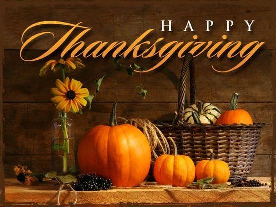 Happy Thanksgiving TDA