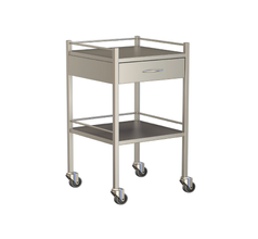 One Drawer Instrument Trolley 490x490x900