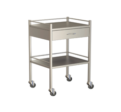 One Drawer Instrument Trolley 600x490x900
