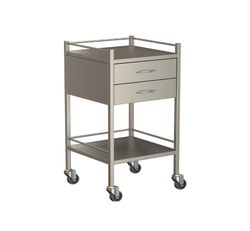 Two Drawer Instrument Trolley 490x490x900