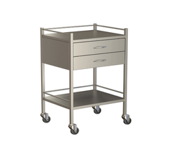Two Drawer Instrument Trolley 600x490x900
