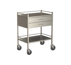 Two Drawer Instrument Trolley 750x490x900