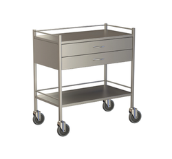 Two Drawer Instrument Trolley 900x490x900