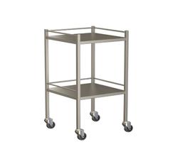 Small Instrument Trolley With Rails, With Bottom Shelf 490x490x900
