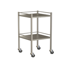 Small Instrument Trolley With Rails, With Bottom Shelf 490x490x900