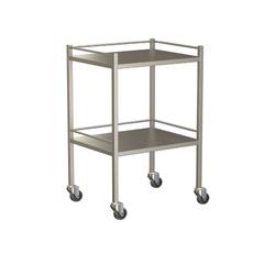 Small Instrument Trolley With Rails, With Bottom Shelf 600x490x900