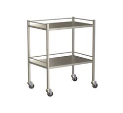 Small Instrument Trolley With Rails, With Bottom Shelf 750x490x900