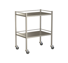 Small Instrument Trolley With Rails, With Bottom Shelf 750x490x900