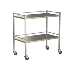 Small Instrument Trolley With Rails, With Bottom Shelf 900x490x900