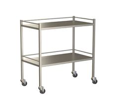 Small Instrument Trolley With Rails, With Bottom Shelf 900x490x900
