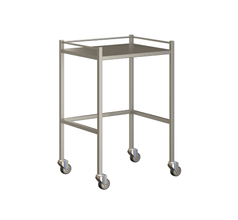 Small Instrument Trolley With Rails, Without Bottom Shelf 600x490x900