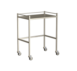 Small Instrument Trolley With Rails, Without Bottom Shelf 750x490x900