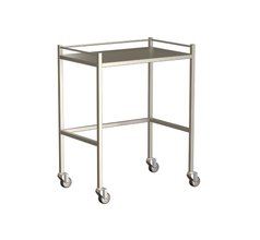 Small Instrument Trolley With Rails, Without Bottom Shelf 750x490x900