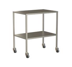 Small Instrument Trolley Without Rails, With Bottom Shelf 750x490x900