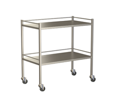 Large Instrument Trolley With Rails, With Bottom Shelf 1000x490x900