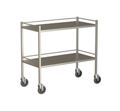 Large Instrument Trolley With Rails, With Bottom Shelf 1000x600x900