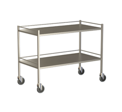 Large Instrument Trolley With Rails, With Bottom Shelf 1200x600x900
