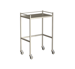 Small Instrument Trolley With Rails, Without Bottom Shelf 490x490x900