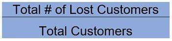 customer churn rate, CX