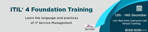 ITIL 4 Foundation Training Dec