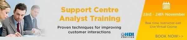 Support Centre Analyst Training Nov