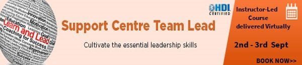 Support Centre Team Lead Training