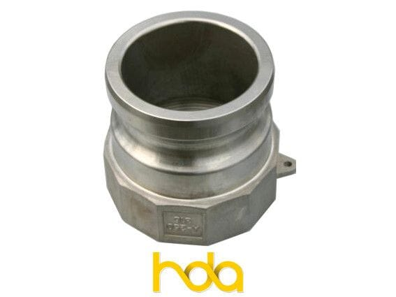Stainless Steel Type-A Camlock. Male Adaptor X Female Bsp Thread.