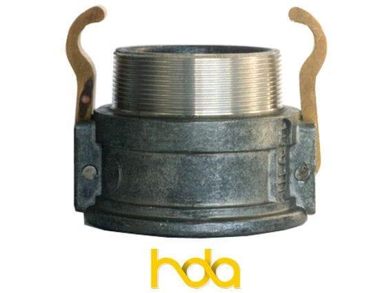 Aluminium Type-B Camlock. Female Coupler X Male Bsp Thread
