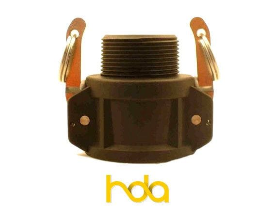 Poly Type-B Camlock. Female Coupler X Male Bsp Thread