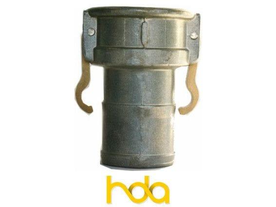 Aluminium Type-C Camlock. Female Coupler X Hosetail.
