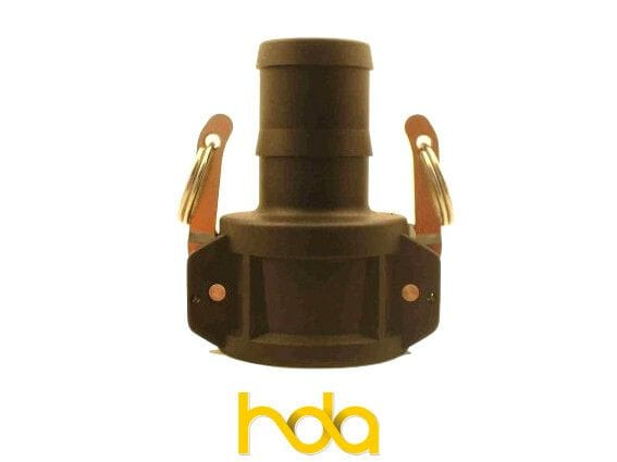 Poly Type-C Camlock. Female Coupler X Hosetail.