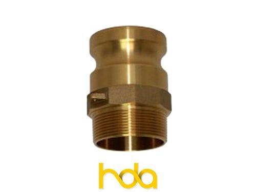 Brass Type-F Camlock. Male Adaptor X Male Bsp Thread.