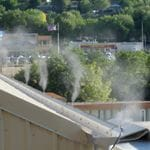 Odor line on the edge of the building