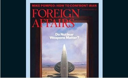 Foreign Affairs Magazine is optimistic about Australia's future and features APV