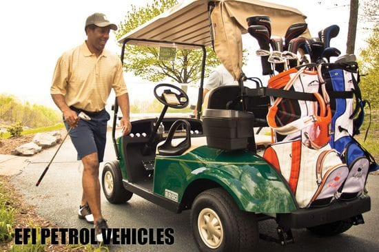 EFI vehicles from E-Z-GO and Cushman
