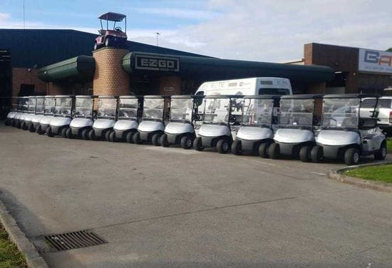 Albert Park take delivery of their new E-Z-GO RXV EFI Petrol Vehicles