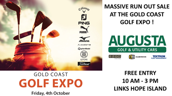 Come find us at the Gold Coast Golf Expo