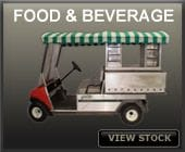 golf, car, sale, purchse, buy, food, beverage, refresher, ezgo