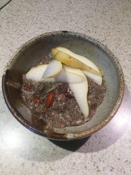 Chia porridge is go for breaky