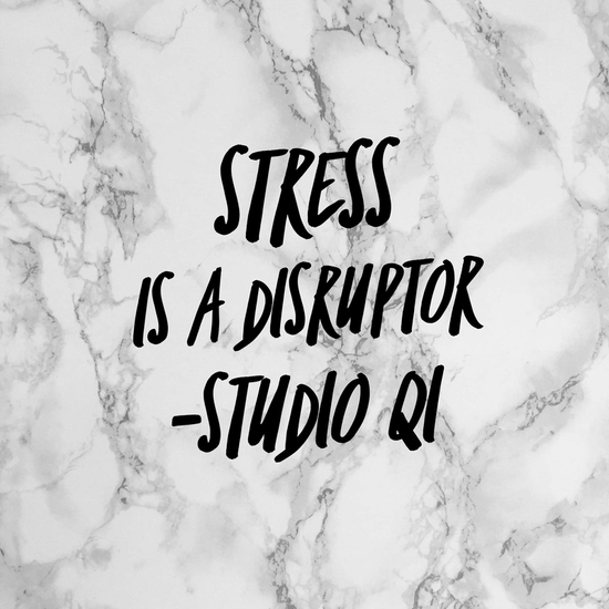 Stress is a disruptor