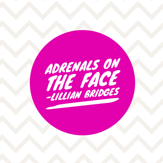 Adrenals seen on the Face