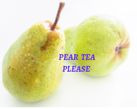 Pear tea for cough